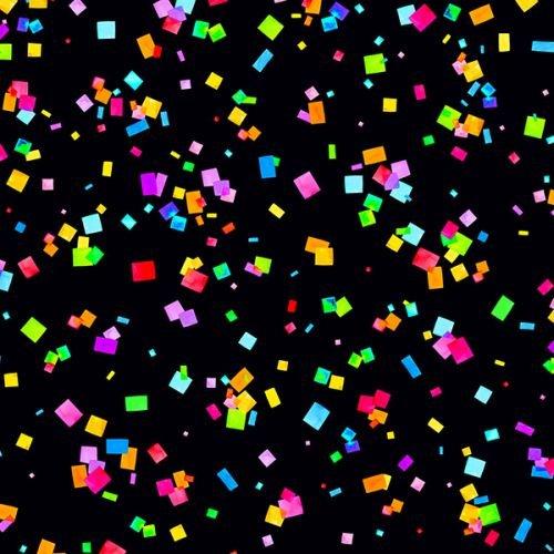 Cue The Confetti - Black/Multi DP