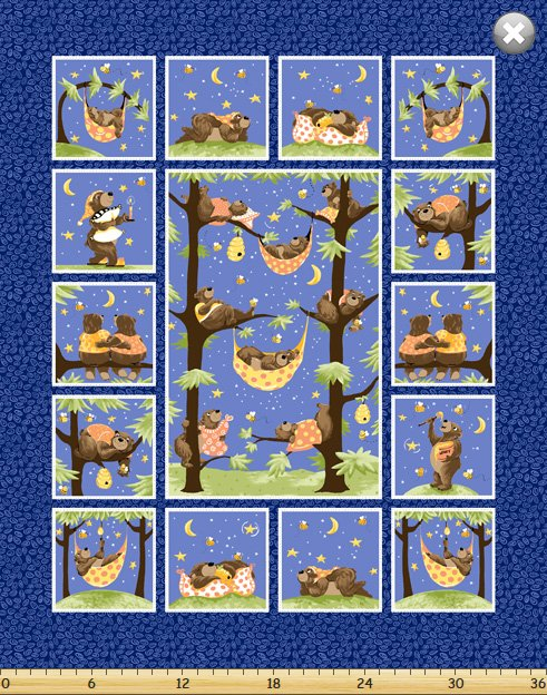 SB Barron the Bear Quilt Panel