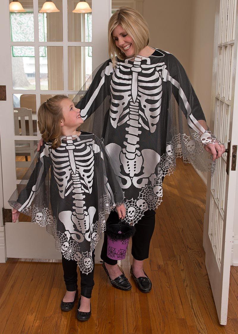 Skeleton Poncho  (45 x 45)