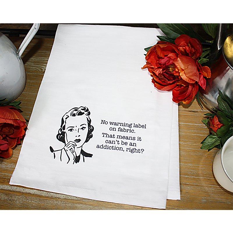 Dirty Laundry Tea Towel   Fabric Warning