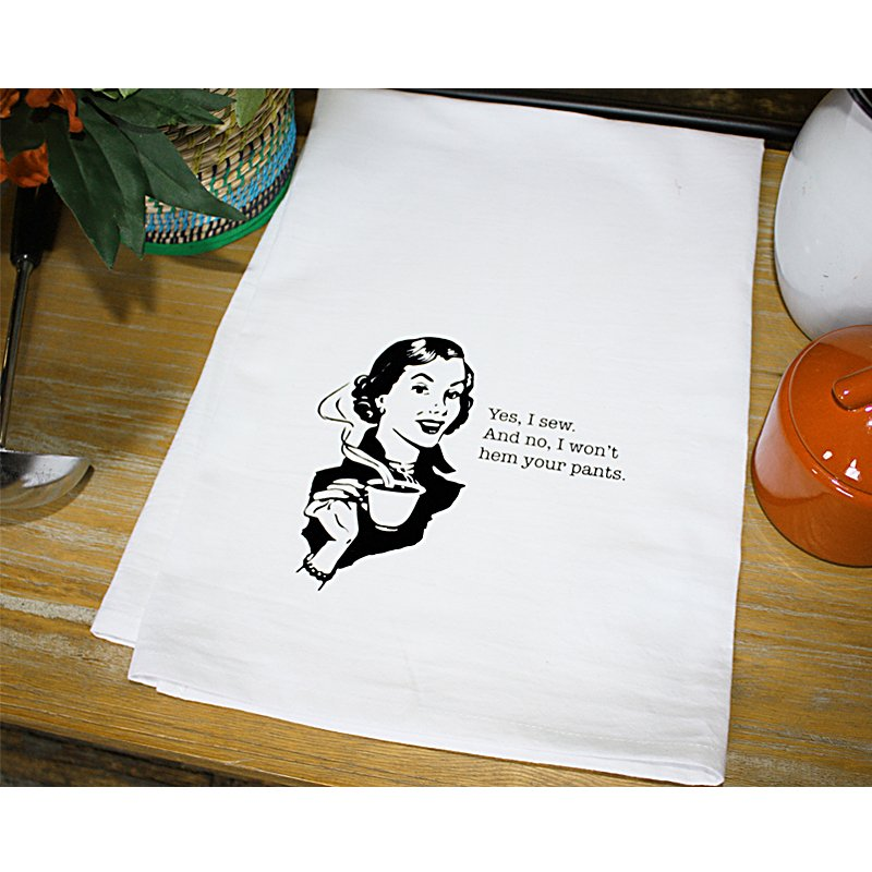 Dirty Laundry Tea Towel Yes I Sew