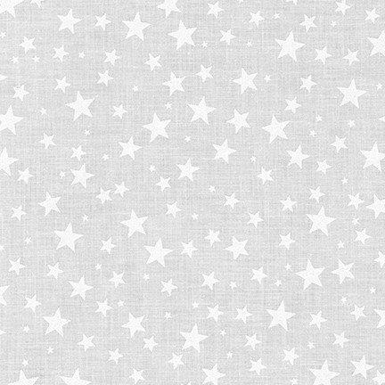 Stars - White on White Fabric