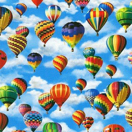 Balloons Aloft  Minis - Sky Fabric