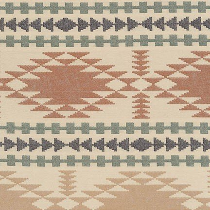 Taos Chevron - Brown Flannel