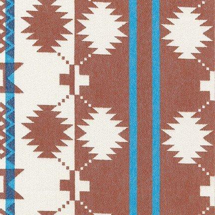 Taos Southwest  Stripe - Rust Flannel