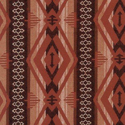 Taos Diamond Stripe - Sable Flannel