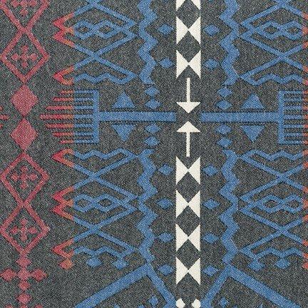 Taos Geometric Stripe - Black Flannel