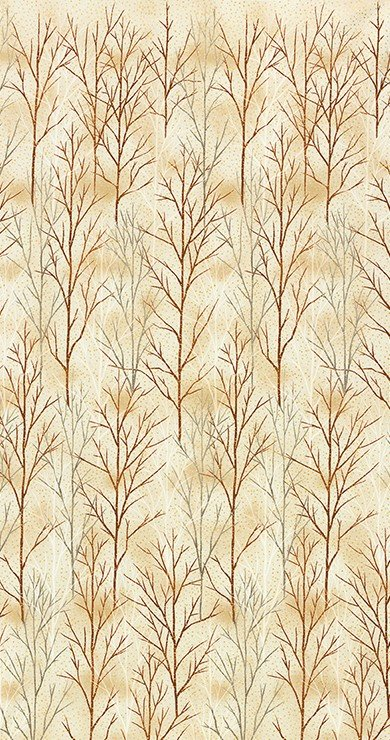 A Walk on the Path Branches - Ivory Fabric