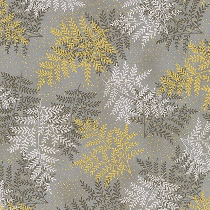 A Walk on the Path Leaves - Taupe Fabric
