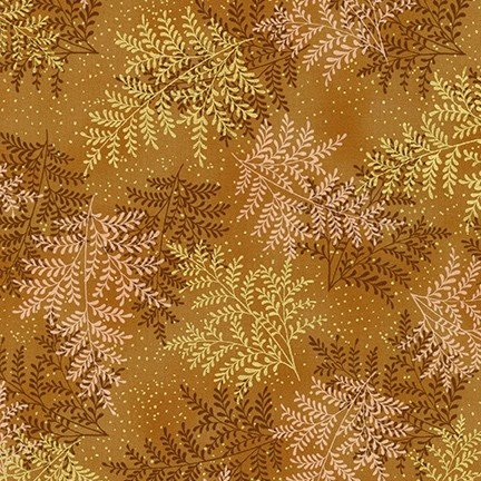 A Walk on the Path Leaves - Rust Fabric