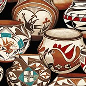Native Pots Fleece - Clay