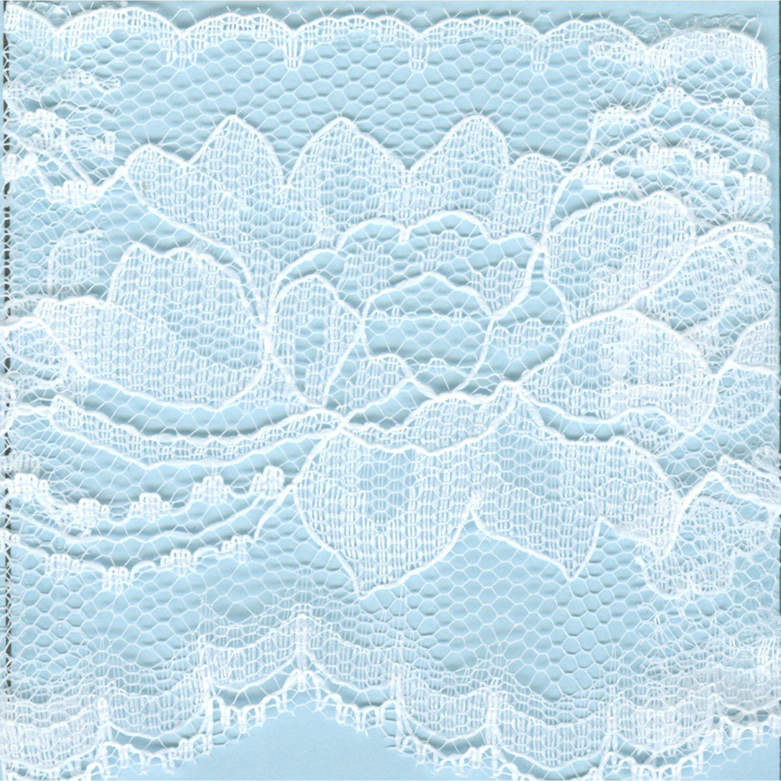 Lace 2.38 Flat Edge - White