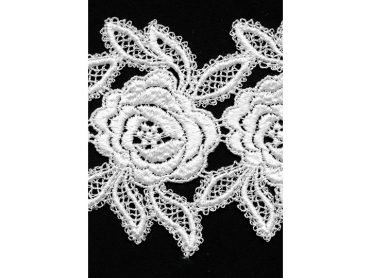 Venise Lace Galloon - White Rayon 3.75