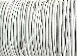 Elastic Polymet Cord - White  1/8