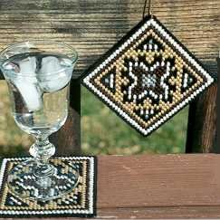 Coaster - Two Gray Hills Needlepoint Kit