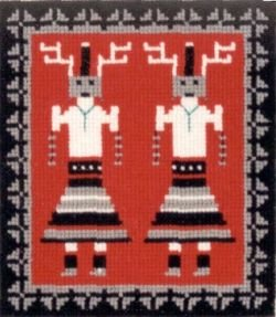 Deer Dancer Yei Counted Cross Stitch