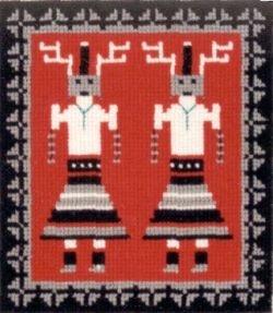 Deer Dancer Yei Counted Cross Stitch