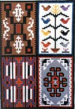 4 in 1 Counted Cross Stitch Sampler