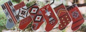 Navajo Rug Stocking Ornaments I