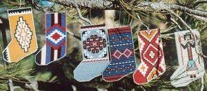 Navajo Rug Stocking Ornaments III