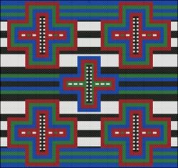 Chief Blanket IV Counted Cross Stitch