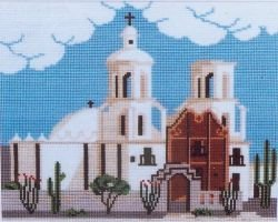 San Xavier Mission Counted Cross Stitch Kit