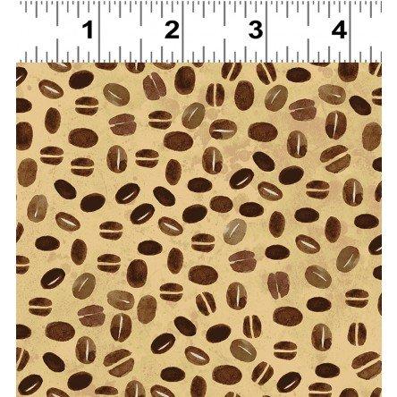 Coffee Shop Beans - Light Caramel Fabric