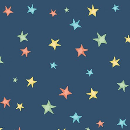 Bike Ride Stars - Navy Blue