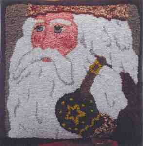 Santa of the Mitten Rug Hook