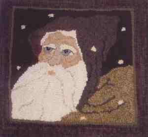 Santa of the Snows Rug Hook
