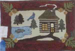 Lakeside Cabin Rug  Hooking