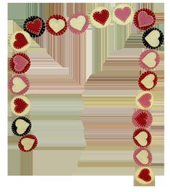 Valentine Penny Garland