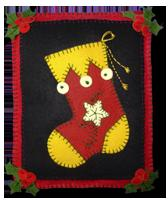 Christmas Pillow Stocking Yellow
