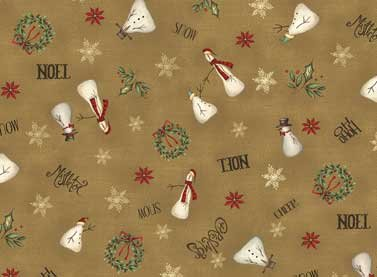 Christmas Whimsy 25208-Dk Brown