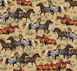 Round em Up Running Horse Chamois