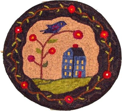 Birds Eye View Rug Hooking Chair Pad