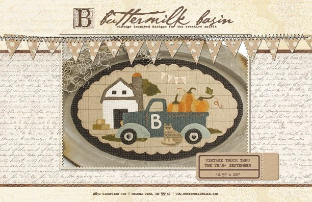 Vintage Truck Thru the Year-Sept Wool Kit
