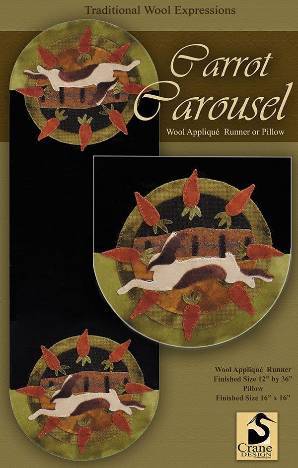 Carrot Carousel Wool Applique Kit