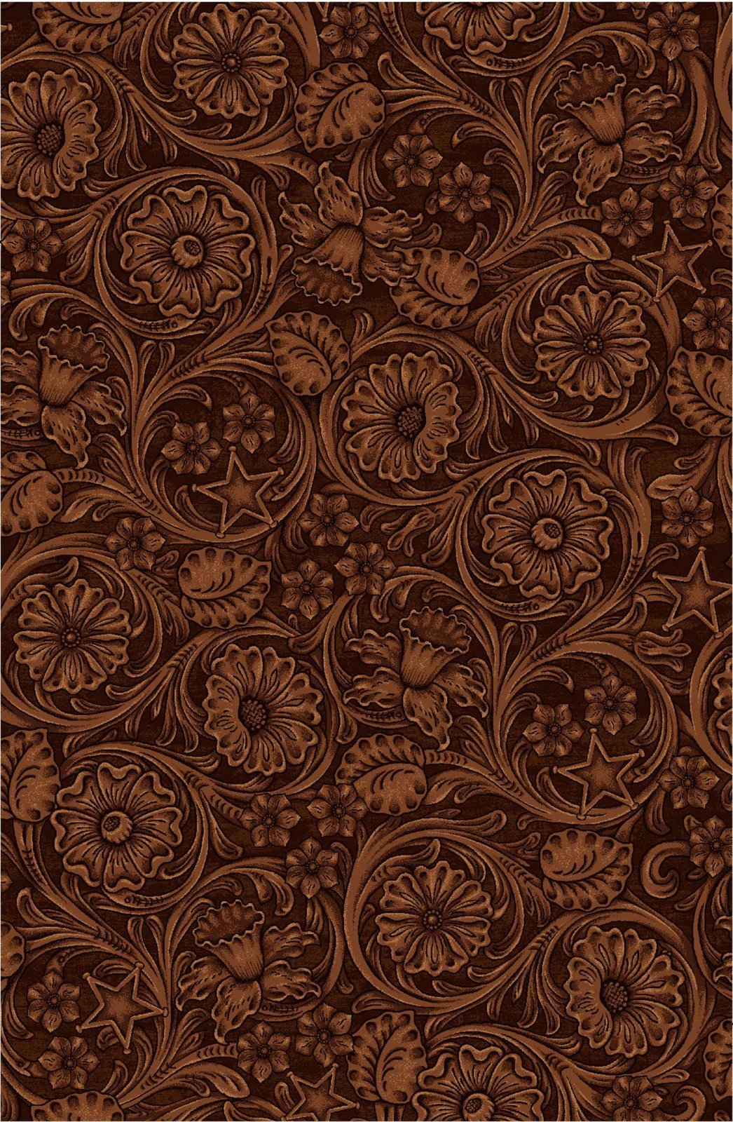 Cowgirl Spirit Embossed Leather Brown