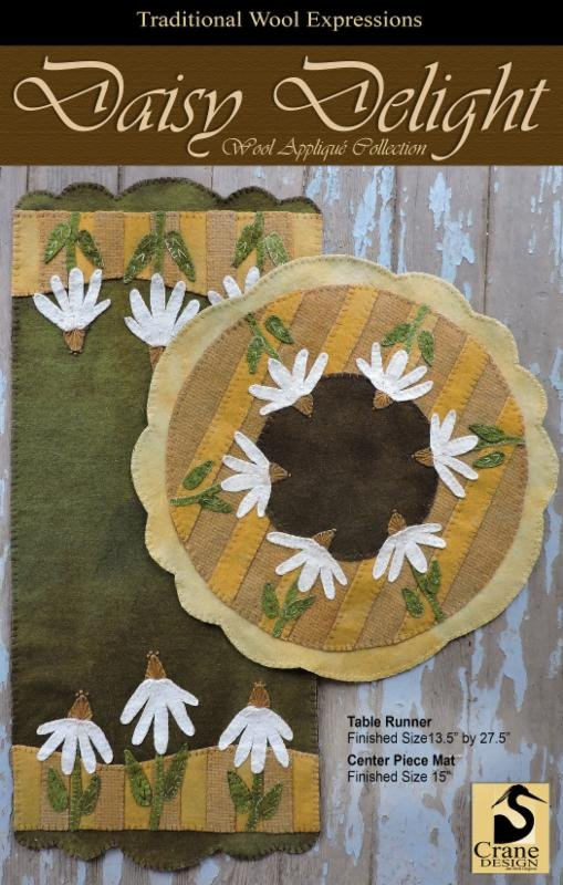 Daisy Delight Wool Applique Kit