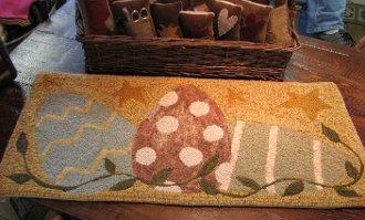 Spring Time Egg Roll Linen Rug Pattern