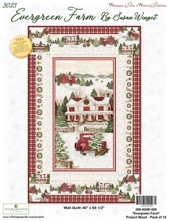 Evergreen Farm Wall Quilt Kit