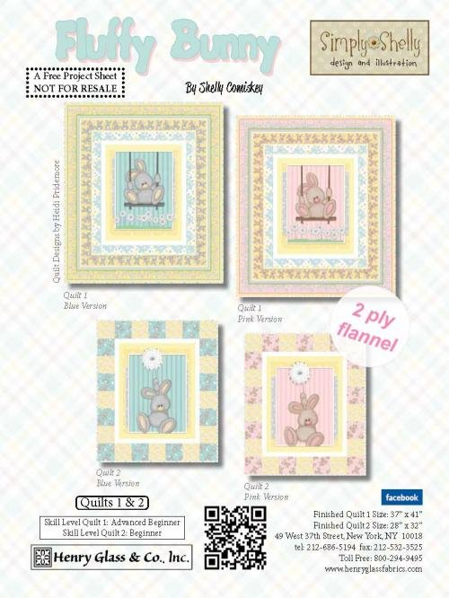Fluffy Bunny Flannel 2 Quilt Kit