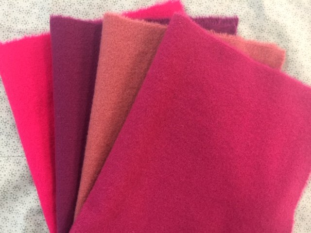 Tickled Pink Wool Quarter Bundle