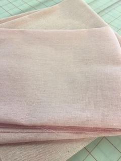 Pink Linen Needlework Fabric