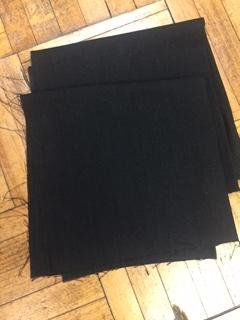 Black Linen Needlework Fabric