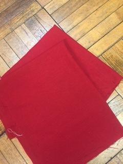 Red Linen Needlework Fabric