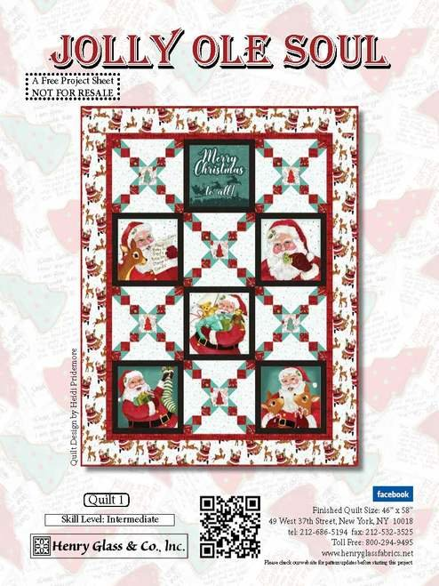 Jolly Ole Soul Cotton Quilt Kit