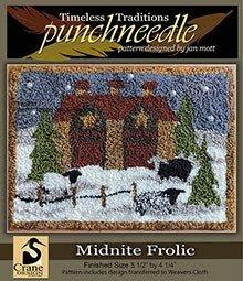 Midnight Frolic Punchneedle