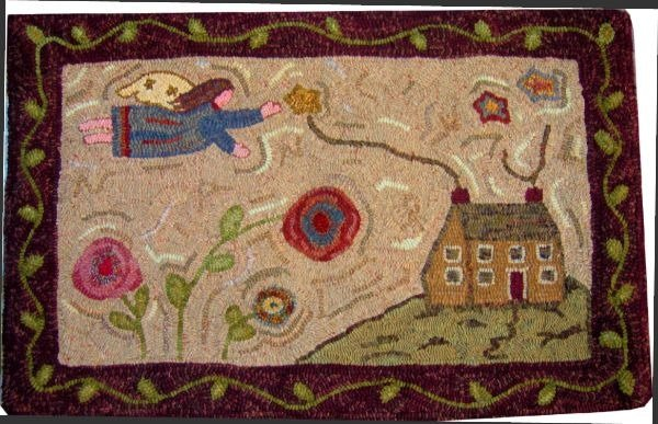 Nancy's Flight Rug Hooking